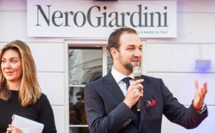Alexander Bellu, Nero Giardini: Módní značka obuvi od začátku do exitu